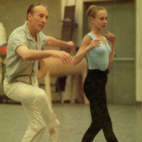 George Balanchine and Suki Schorer. Photographer Unknown.